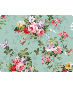 Retro Flowers Wallpaper - Skin Telefon