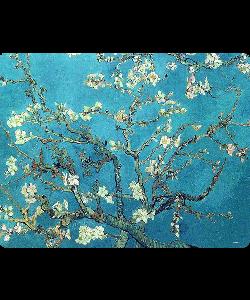 Van Gogh - Branches with Almond Blossom - Sony Xperia Z3 Husa Book Neagra Piele Eco
