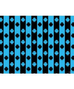 Android Stripes - Samsung Galaxy S4 Carcasa Transparenta Silicon