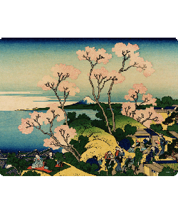 Hokusai - The Fuji from Gotenyama at Shinagawa on the Tokaido - Skin Telefon