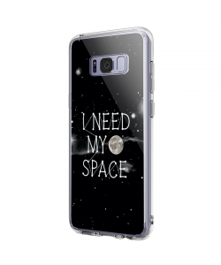I need my space- Samsung Galaxy S8 Plus Carcasa Transparenta Silicon