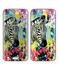 Zebra Splash - Samsung Galaxy S7 Edge Skin