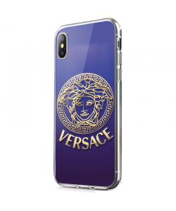 Purple Versace - iPhone X Carcasa Transparenta Silicon