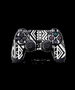 Tribal Black & White - PS4 Dualshock Controller Skin