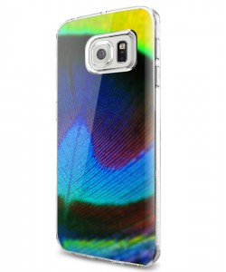 Peacock Feather - Samsung Galaxy S7 Edge Carcasa Silicon