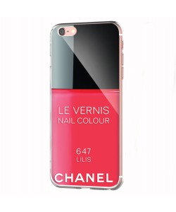 Chanel Lilis Nail Polish - iPhone 6 Carcasa Transparenta Silicon