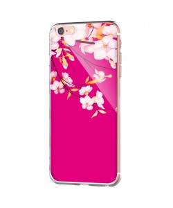 Cherry Blossom - iPhone 6 Carcasa Transparenta Silicon