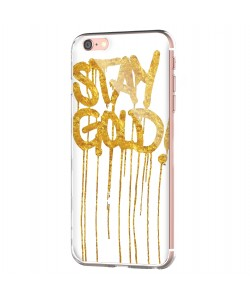 Stay Gold - iPhone 6 Carcasa Transparenta Silicon