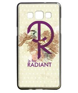 R is for Radiant - Samsung Galaxy A5 Carcasa Silicon
