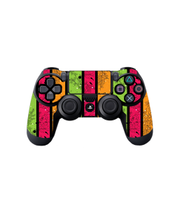 Stripes and Flowers - PS4 Dualshock Controller Skin