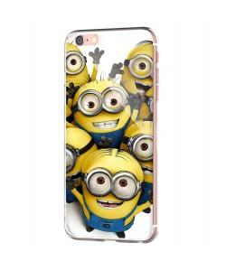 Minions Crew - iPhone 6 Carcasa Transparenta Silicon