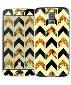 Black & Gold - Samsung Galaxy S5 Skin