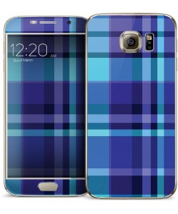 Blue Plaid - Samsung Galaxy S6 Skin