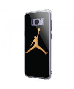 Golden Jordan - Samsung Galaxy S8 Carcasa Premium Silicon