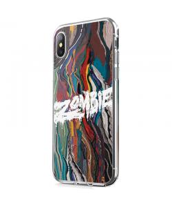 Zombie - iPhone X Carcasa Transparenta Silicon