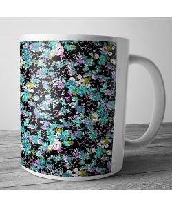 Cana personalizata - Floral Black