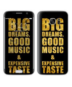 Good Music Black - Samsung Galaxy S7 Skin