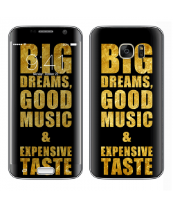 Good Music Black - Samsung Galaxy S7 Edge Skin