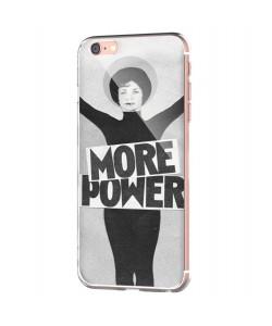 More Power - iPhone 6 Carcasa Transparenta Silicon