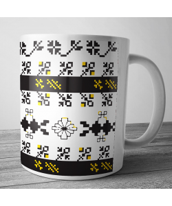 Cana personalizata - Black & Yellow