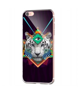 Eyes of the Tiger - iPhone 6 Carcasa Transparenta Silicon