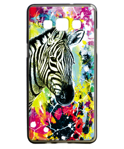 Zebra Splash - Samsung Galaxy A5 Carcasa Silicon