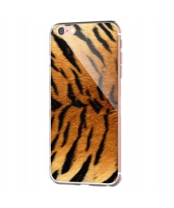 Tiger Fur - iPhone 6 Carcasa Transparenta Silicon