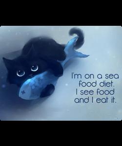 Sea Food - Samsung Galaxy S6 Edge Carcasa Silicon Premium