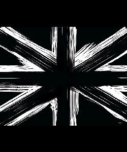 Black UK Flag - iPhone 6 Plus Carcasa TPU Premium Neagra