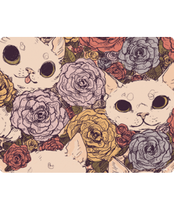 Flower Cats - Samsung Galaxy S3 Carcasa Silicon
