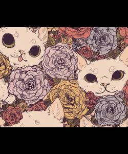 Flower Cats - Samsung Galaxy S4 Carcasa Silicon