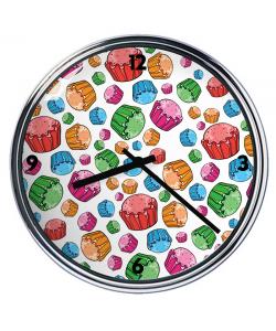 Ceas personalizat - Rainbow Cupcakes