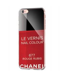 Chanel Rouge Rubis Nail Polish - iPhone 6 Carcasa Transparenta Silicon