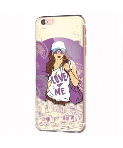 Love Me - iPhone 6 Carcasa Transparenta Silicon