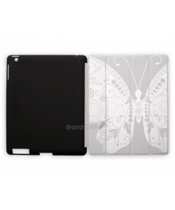 Husa Procell Covermate Butterfly Negru - iPad 2