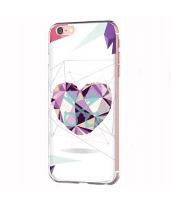 Love Keys - iPhone 6 Carcasa Transparenta Silicon