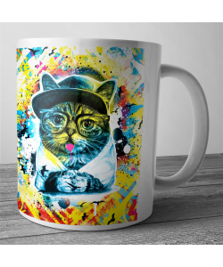 Cana personalizata - Hipster Meow