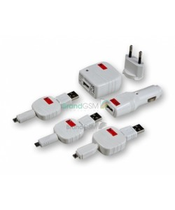 Set incarcare MicroUSB Swiss Charger Micro Pack retea+auto+cablu