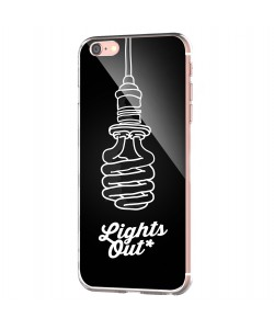 Lights Out - iPhone 6 Carcasa Transparenta Silicon