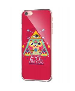 We Got Our Eye on You - iPhone 6 Carcasa Transparenta Silicon