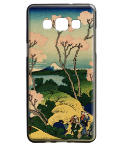Hokusai - The Fuji from Gotenyama at Shinagawa on the Tokaido - Samsung Galaxy A5 Carcasa Silicon