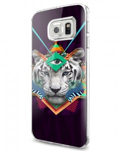 Eyes of the Tiger - Samsung Galaxy S7 Edge Carcasa Silicon