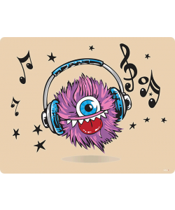 Fluffy Headphones - Skin Telefon