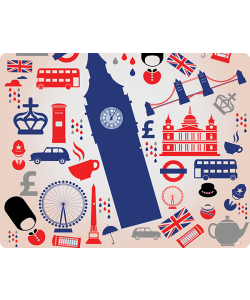 London Collage - Samsung Galaxy S4 Carcasa Transparenta Silicon
