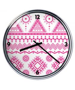 Ceas personalizat - Pink Geometry