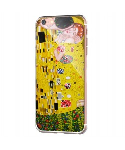 Gustav Klimt - The Kiss - iPhone 6 Carcasa Transparenta Silicon