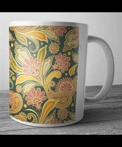Cana personalizata - Floral Shapes