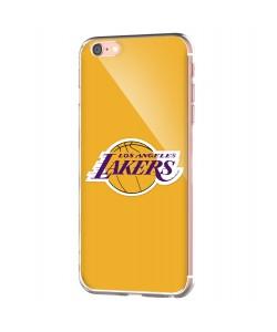 Los Angeles Lakers - iPhone 6 Carcasa Transparenta Silicon