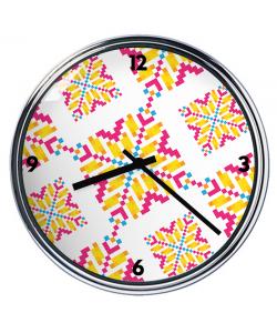 Ceas personalizat - Alb - Auriu - Roz