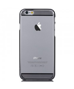 Brightness Gun Black - Comma Carcasa iPhone 6 Plus TPU (rama electroplacata)